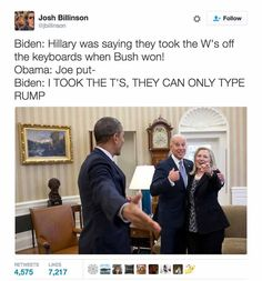 Funniest Memes of Biden and Obama Pranking Trump: Changing the Keyboards