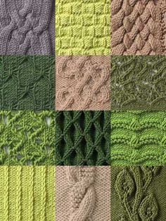 Stitch Gallery - Knit Stitches:t Simple Knit-Purl Combinations Ribbings Slip-stitch Patterns Fancy Texture Patterns Eyelet Patterns Lace Cables Knitting Stiches, Loom Knitting, Free Knitting, Crochet Stitches, Slip Stitch Knitting, Knit Patterns, Stitch Patterns, Simple Knitting Patterns, Textures Patterns