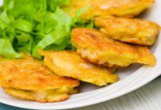 Vyprážané rybie filé v cestíčku Pork Recipes, Salmon Burgers, Zucchini, Food And Drink, Ethnic Recipes, Style, Swag, Outfits
