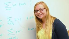 Intrigued by her experience in a math class, Megan Menth '14 thought it would be fun to apply what she was learning to a real-life problem.