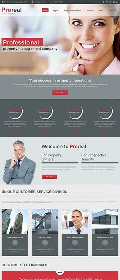 Template 49619 - Proreal Real Moto CMS HTML Template