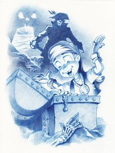 The Littlest Pirate. by Guy Wolek, via Behance
