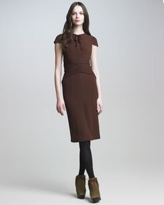 a690dbdbcee Tie-Neck Crepe Dress by Burberry Prorsum at Bergdorf Goodman. Neiman Marcus  ...