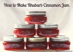 I owe Krista a big THANK YOU for sending me this wonderful recipe for Rhubarb Cinnamon Jam. I whipped up a batch this morning and it turned out delicious. I love it so much, I plan on making a few more batches of this rhubarb cinnamon jam this. Sauce Pizza, Great Recipes, Favorite Recipes, Ruhbarb Recipes, Recipies, Jam And Jelly, Jelly Recipes, Wonderful Recipe, The Best