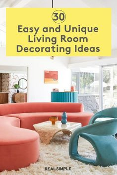 30 Easy and Unique Living Room Decorating Ideas | Borrowing some of the best decor ideas from designers and bloggers, we've compiled a list of the best ways to liven up your living room. These pro-approved tips will create a stylish, comfortable living room you'll actually want to live in. #realsimple #livingroomdecor #livingroomideas #details #homedecorinspo Comfortable Living Rooms, Decorating Ideas, Decor Ideas, Outdoor Furniture Sets, Outdoor Decor, Real Simple, Living Room Decor, Diy Home Decor, Designers
