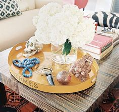 Coffee Table Styling Rectangular Tray