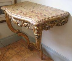 barokk konzolasztal Vanity Bench, Vintage Designs, Shabby Chic, Art Deco, Diy, Furniture, Home Decor, Antique Furniture, Hungary