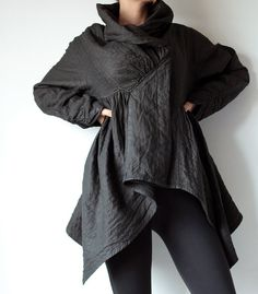 2 Layers thick tunic / Jacket for autumn & winter by cocoricooo