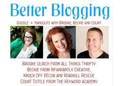 Love this blogging video! {better blogging google + hangouts}