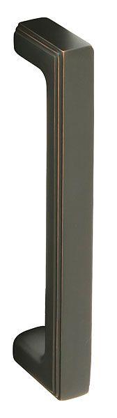 For the sliding barn doors in the basement - Emtek Brass Wilshire Pull