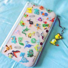 nintendo xl pokemon skins so awesome Nintendo Ds, Nintendo Games, Wii Games, Super Nintendo, Geek Mode, Ds Xl, Custom Consoles, Nintendo Switch Accessories, Mundo Dos Games