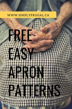 DIY Apron This list of free and easy apron patterns is fantastic! Easy Apron Pattern, Child Apron Pattern, Vintage Apron Pattern, Apron Patterns, Aprons Vintage, Sewing Patterns Free, Free Sewing, Retro Apron, Costume Patterns