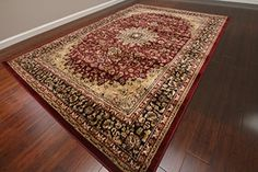 Feraghan Burgundy Red Traditional Isfahan Wool Persian Area Rugs Rug 4018 9'2 x 12'6 Feraghan/New City http://www.amazon.com/dp/B015Y1R46C/ref=cm_sw_r_pi_dp_kfsUwb0143MBD