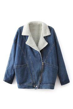 Sidelong Zippered Denim Coat 41.99