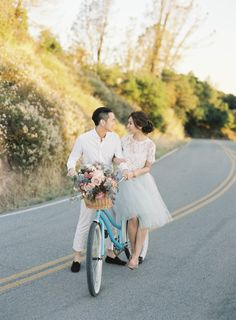 Romantic + Playful Engagement Session – Style Me Pretty