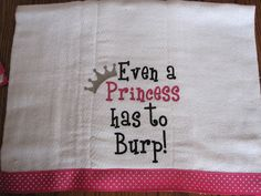Baby Girl Gifts For Shower Burp Cloths 63 Super Ideas Cricut Baby Shower, Baby Shower Gifts, Baby Burp Cloths, Baby Bibs, Baby Layette, Baby Embroidery, Machine Embroidery, Baby Girl Embroidery Ideas, Embroidery Designs