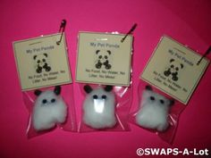 Available for purchase is a SWAPS Kit to create 25 Mini My Pet Panda Bear SWAPS. These SWAPS are sent in KIT form, ready for you or your troop to asse Girl Scout Swap, Girl Scout Leader, Girl Scout Troop, Brownie Girl Scouts, Swaps For Girl Scouts, Craft Kits For Kids, Crafts For Kids, Preschool Crafts, Market Day Ideas