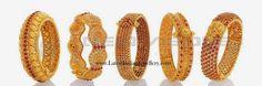 latest ruby gold bangle designs