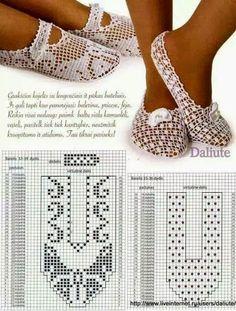 Sapatilha em crochet