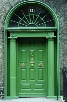 Beautiful Things in Emerald, the Color for Now Throughout Dublin, you will see many a Georgian Doorway; we love this emerald green one!