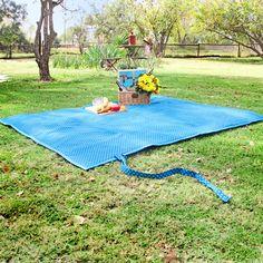 Blue Shwe Shwe Picnic Blanket