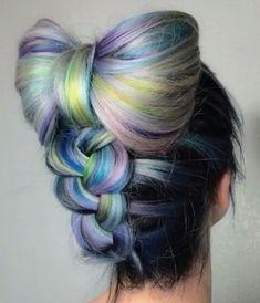 Up Hairstyles, Pretty Hairstyles, Braided Hairstyles, Wedding Hairstyles, Perfect Hairstyle, Hair Color Blue, Blue Hair, Pink Hair, Coloured Hair