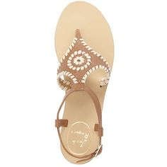Women's Jack Rogers 'Maci' Flat Sandal ($138) ❤ liked on Polyvore featuring shoes, sandals, flats, flat heel sandals, flats sandals, flat pumps, flat sandals and flat heel shoes