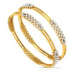 Rs Charu Jewels Diamond Bangle Made with Gms 18 KT Yellow Gold Gold And Carat Diamonds Gold Bangles Design, Jewelry Design, Diamond Bracelets, Bangle Bracelets, Gold Set, Gold Gold, Best Gifts For Mom, Bangles Making, Schmuck Design
