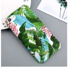 USLION Case For iPhone 6 Flower Cherry Tree Hard PC Phone Cases Candy Colors Leaves Print Cover Coque For iPhone 6 7 8 Plus Product Description>>> New Brand Cute Cartoon Retro Flower Cherry Tree Phone Case phone back Cover for iphone 6 7 8 Plus Iphone 8 Plus, Iphone 7, Iphone Hard Case, Iphone Cases, Tropical Leaves, Tropical Flowers, Apple Iphone 6, Flowering Cherry Tree, Iphone Price