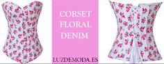 Precioso y muy elegante. Disponible desde la talla S hasta la 2XL. P.V.P: 23,50 €.  Lo encontrarás en: http://www.luzdemoda.es/es/corse-floral-fantasia