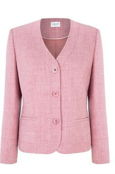 Carnation Pink Textured Jacket