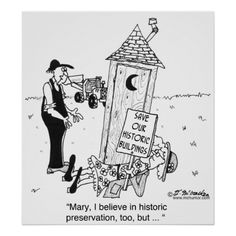 historic outhouses pleads with a woman lying in front of an outhouse with a sign save our