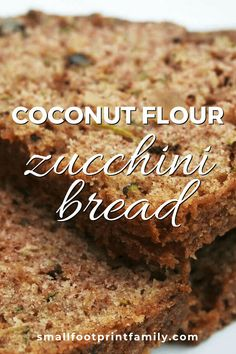 Here's a delicious, gluten-free, GAPS and Paleo-friendly way to enjoy the zucchini bounty. This coconut flour zucchini bread recipe also freezes well! Sugar Free Zucchini Bread, Coconut Zucchini Bread, Gluten Free Zucchini Recipes, Zucchini Desserts, Coconut Flour Bread, Healthy Bread Recipes, Coconut Recipes, Coconut Flour Desserts, Healthy Breads