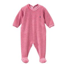 Little Loungers Little loungers Petit Bateau Newborn Baby Clothes at Little Loungers Brooklyn NY Designer Baby Clothes, Girl Outfits, Fashion Outfits, One Piece Outfit, Pink And White Stripes, Baby Boy Or Girl, Baby Outfits Newborn, Infant, Boat