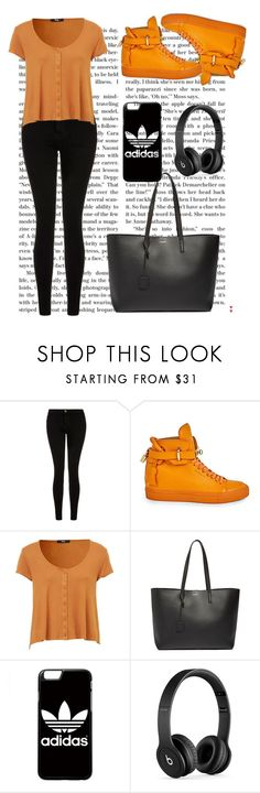 """""""Bez naslova #9"""" by mersida-1 ❤ liked on Polyvore featuring Current/Elliott, BUSCEMI, Yves Saint Laurent, adidas and Beats by Dr. Dre"""