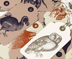 2015 Collection letterpress gift-tags
