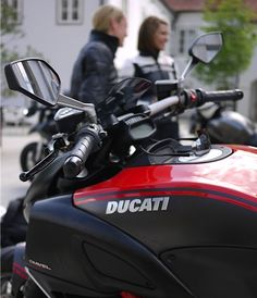 Ducati Club....Linz, Austria. Love seeing the ladies in photos! Woot for female riders!