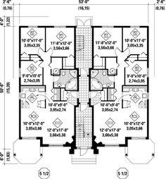 First Floor Plan of Multi-Family Plan 52764