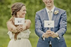 I think this is a really cute idea...maybe let the Groom show his whole face :-)