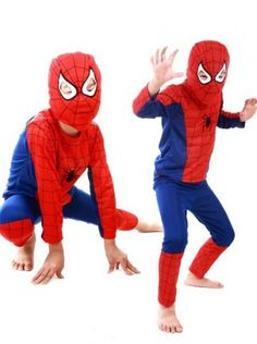 Super Hero Spiderman Kids Boys Party Fancy Dress Costume Outfit Mask