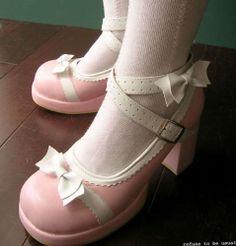 Sweet Dolly Lolita Mary Janes 9 5 10 Rose Pink White 26 | eBay