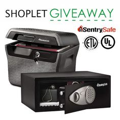 To keep you on guard, this week, we're giving away two #safes from Sentry Safe to keep your documents and valuables secure! Enter to win from #Shoplet.
