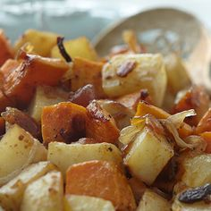 Oven Roasted Yams and Potatoes