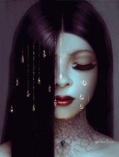 Mystery woman beauty