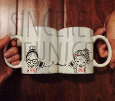 Mejor diseño de amigo de larga distancia café taza Original SE (dos tazas)