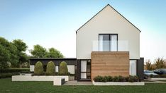 On the Avenue - McAleenan NI Barn Style House Plans, Courtyard House Plans, Gable Roof, Houzz, New Homes, How To Plan, Mansions, House Styles, Modern