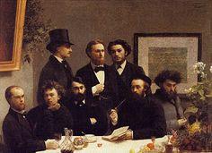 Henri Fantin-Latour, huile sur toile, 1872.  Musée d'Orsay - Le coin de table