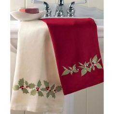 Yo-Yo Accents Holiday Fun 2 Tea Towel Pattern by Marcia Layton MLD ...