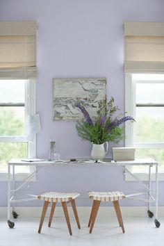 Wandfarben kombinieren gibt dem Heimbüro einen einzigartigen Look