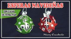 ESFERAS NAVIDEÑAS CON CAJAS DE TETRA PAK